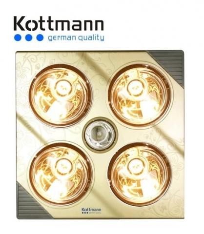 Đèn sưởi Kottmann 4 bóng vàng mã K4B-G
