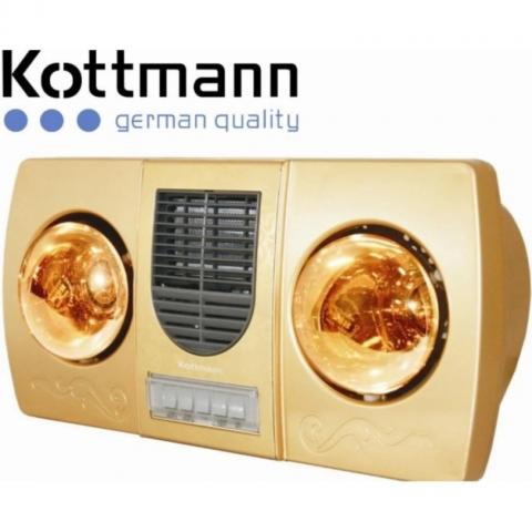 Đèn sưởi Han's - Kottmann 2 bóng - K2B-HW-G quạt thổi gió