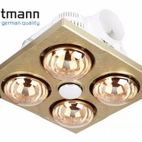 Đèn sưởi Kottmann 4 bóng vàng lắp âm trần- mã K4B-T